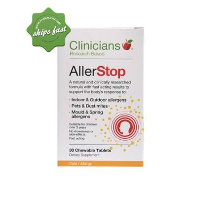 CLINICIANS ALLERSTOP 30 CHEWABLE TABLETS