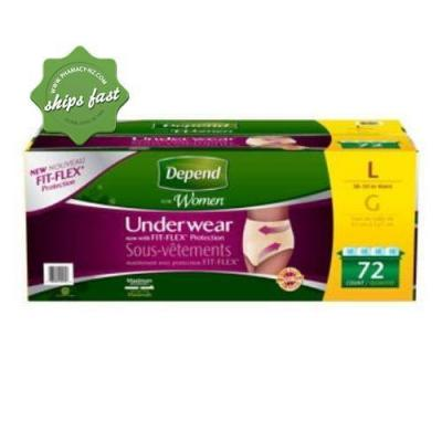 DEPEND REALFIT FOR WOMEN UNDERWEAR LARGE MAX ABSORBENCY 8 COUNT