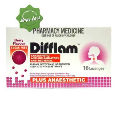 DIFFLAM PLUS ANAESTHETIC BERRY 16 LOZENGES