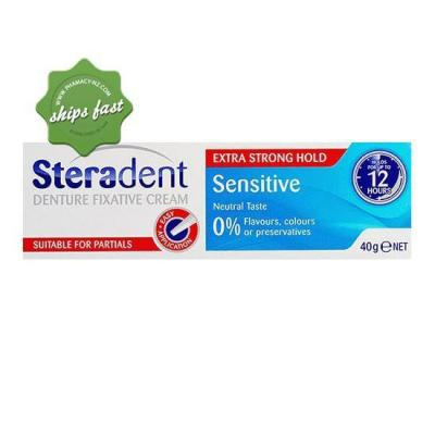 STERADENT DENTURE FIXATIVE CREAM SENSITIVE 40G