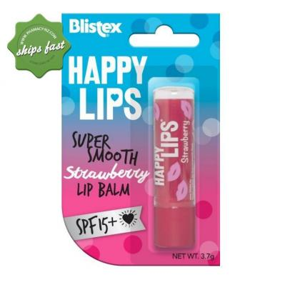 BLISTEX HAPPY LIPS STRAWBERRY LIP BALM SPF15 3 7 G
