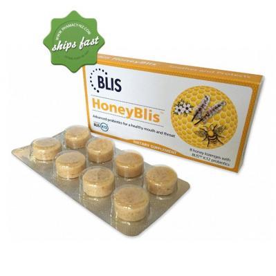 BLISS HONEYBLIS 8 HONEY LOZENGES WITH BLIS K12 PROBIOTICS