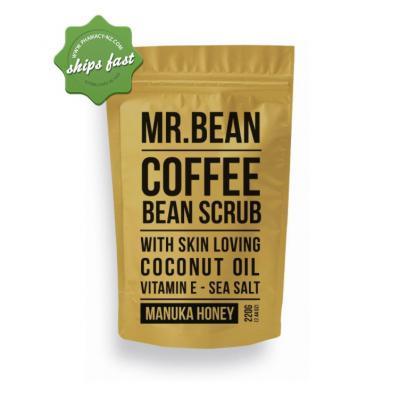 MR BEAN COFFEE BEAN SCRUB MANUKA HONEY 220G