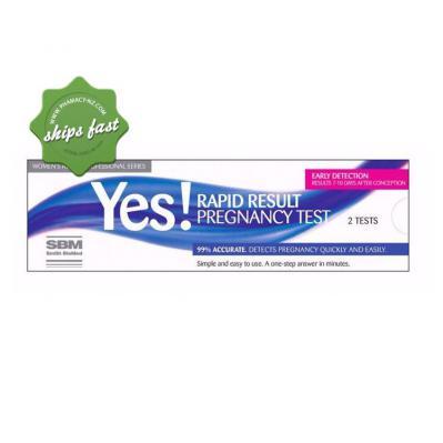 RAPID RESULT PREGNANCY TEST 2 SBM
