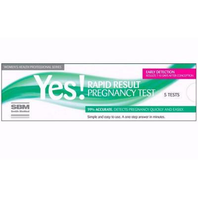 YES Rapid Result Pregnancy Test 5 Tests