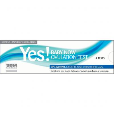 YES Baby Now Ovulation 4 Tests
