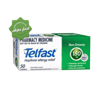 TELFAST 180MG 50 TABLETS