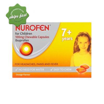 NUROFEN FOR CHILDREN ORANGE 24 SOFT CHEWABLE CAPSULES
