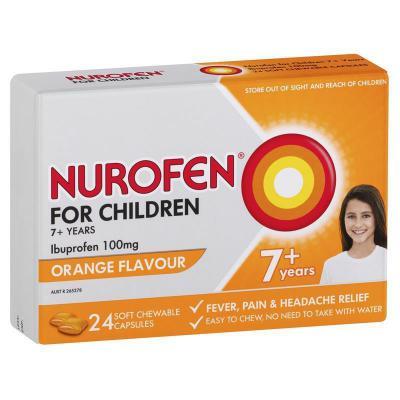 Nurofen Children Soft Chewable Capsules 24