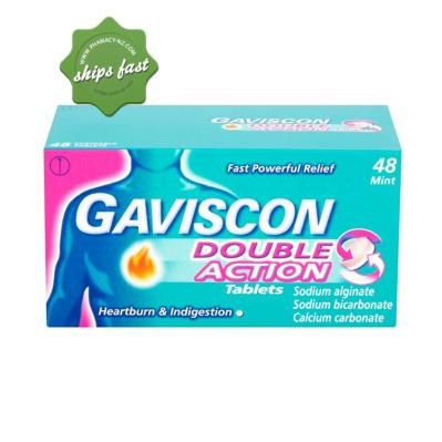 GAVISCON DUAL ACTION 48 CHEWS