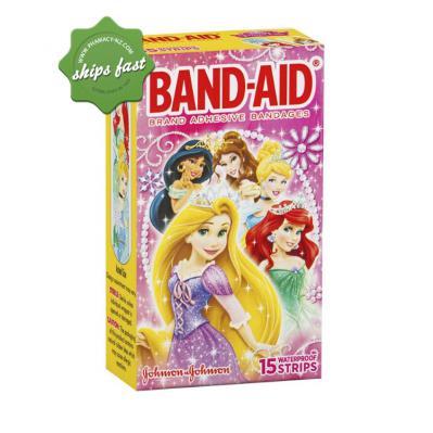 BAND AID PRINCESS 15 STRIPS