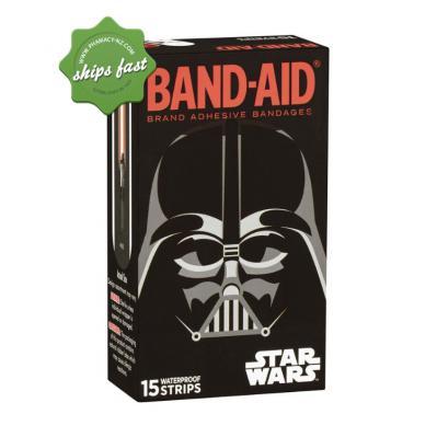 BAND AID STAR WARS 15 WATERPROOF STRIPS
