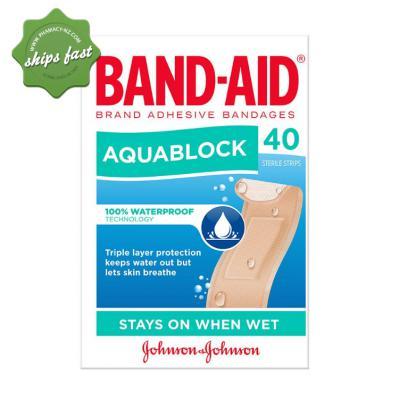 BANDAID STRIPS AQUABLOCK 40