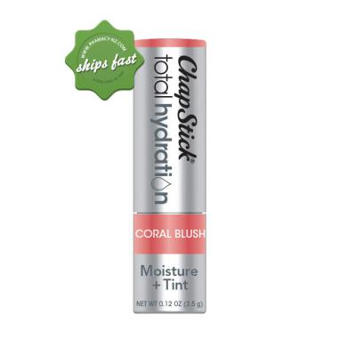 CHAPSTICK TOTAL HYDRATION 100 NATURAL PLUS TINT CORAL BLUSH