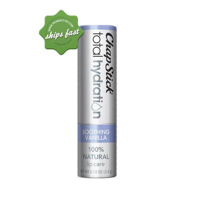 CHAPSTICK TOTAL HYDRATION 100 PERCENT NATURAL SOOTHING VANILLA