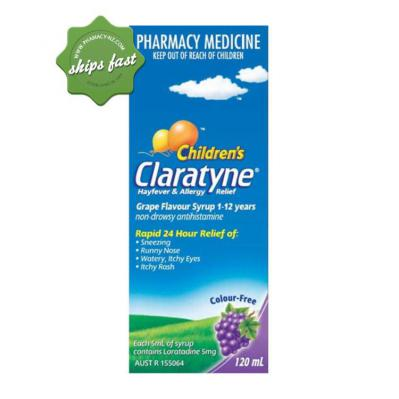 CLARATYNE CHILDRENS GRAPE FLAVOUR 120ML