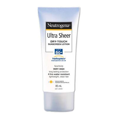 Neutrogena Ultra Sheer Dry Touch Sunscreen Lotion SPF50+ 85ml