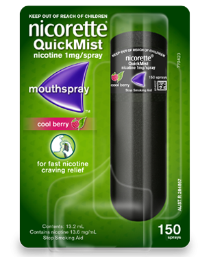 NICORETTE QUICK MIST SPRAY BERRY 13.2ML