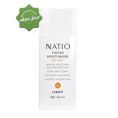 NATIO TINTED MOISTURISER SPF50 50ML LIGHT
