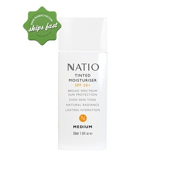 NATIO TINTED MOISTURISER SPF50 50ML MEDIUM