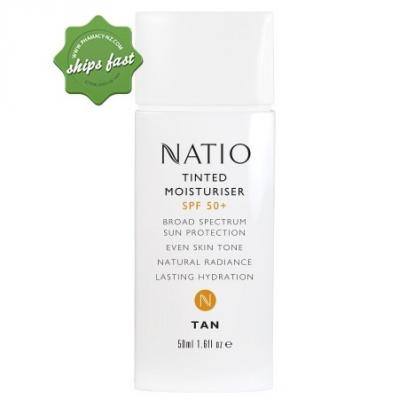 NATIO TINTED MOISTURISER SPF50 50ML TAN