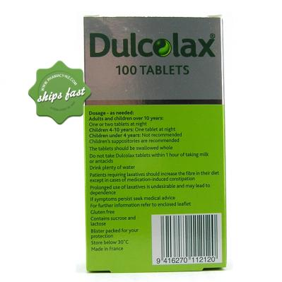 DULCOLAX TABLETS 5MG 100