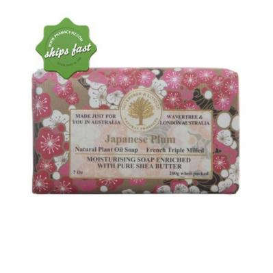 WAVERTREE AND LONDON JAPANESE PLUM NATURAL PLANT OIL SOAP 200G