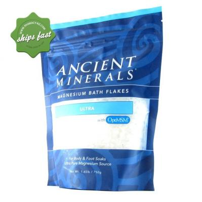 ANCIENT MINERALS MAGNESIUM BATH FLAKES ULTRA WITH OPTIMSM 750G