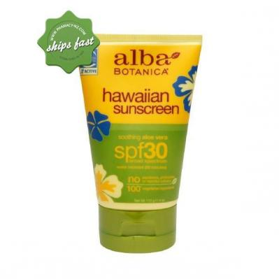 ALBA BOTANICA HAWAIIAN SUNSCREEN SOOTHING ALOE VERA SPF30 113G