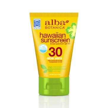 Alba Botanica Hawaiian Aloe Vera Sunscreen SPF30 113g