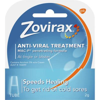 Zovirax Cold Sore Cream 2g Tube