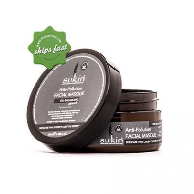 SUKIN ANTI POLLUTION FACIAL MASQUE WITH CHARCOAL 100ML (Special buy online only)