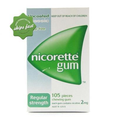 NICORETTE 2MG CLASSIC GUM 105