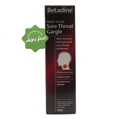BETADINE READY TO USE SORE THROAT GARGLE 120 ML