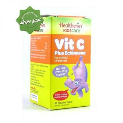 HEALTHERIES KIDS ECHINACEA VITAMIN C CHEWABLE 60s