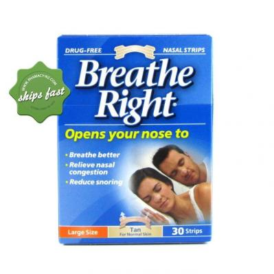 BREATHE RIGHT TAN LARGE 30