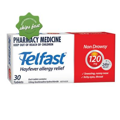 TELFAST TABLETS 120MG 30