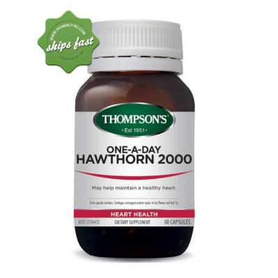 THOMPSONS ONE A DAY HAWTHORN 2000 60 CAPSULES