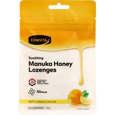 Comvita Manuka Honey Zesty Lemon 12 Lozenges