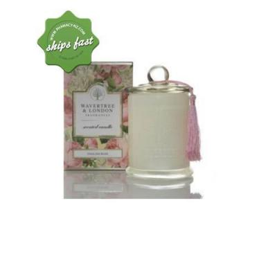 WAVERTREE AND LONDON FRAGRANCES SCENTED SOY CANDLE ENGLISH ROSE 60HR