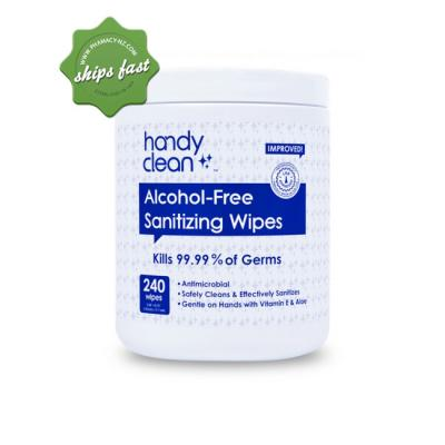 HANDY CLEAN ALCOHOL FREE SANITIZING WIPES 240 WIPES