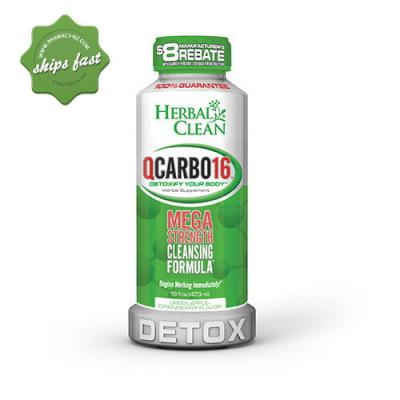 HERBAL CLEAN QCARBO FAST CLEANSING FORMULA 16OZ