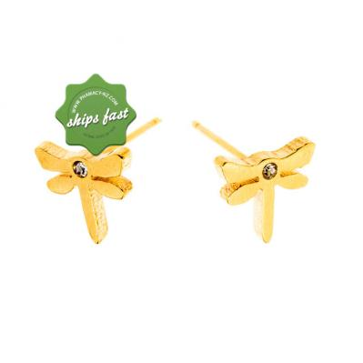 EURO GOLD DRAGONFLY WITH CRYSTAL