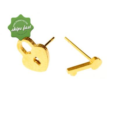 EURO GOLD PADDLOCK AND KEY