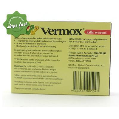 VERMOX TABLETS 2S
