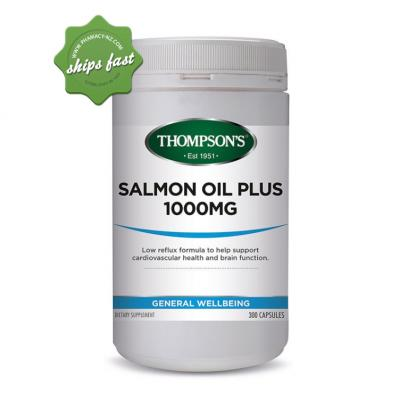 THOMPSONS SALMON OIL PLUS 1000MG 300 CAPSULES