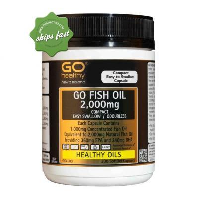 GO Healthy Go Fish Oil 2000mg Odourless 230 Capsules