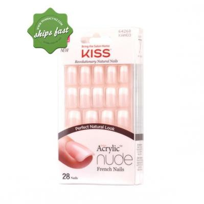 KISS ACRYLIC NUDE FRENCH NAILS CASHMERE X 28