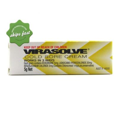 VIRASOLVE COLD SORE CREAM 5G