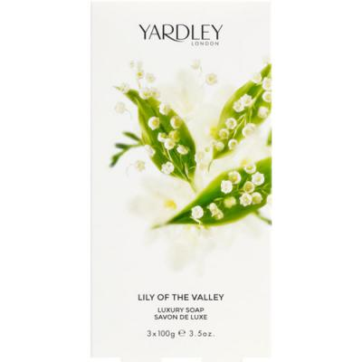Yardley Lily of The Valley Soap Boxed 3x100g